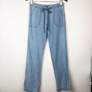 Sanctuary linen blend drawstring beach pants